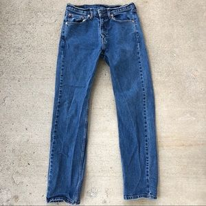 505 Levi's dark wash denim Regular stretch jeans